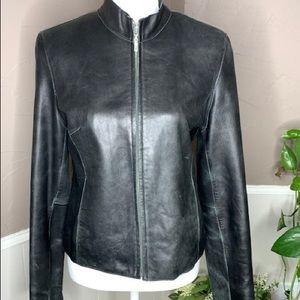 Vintage 80's Wilsons Leather Motorcycle Jacket